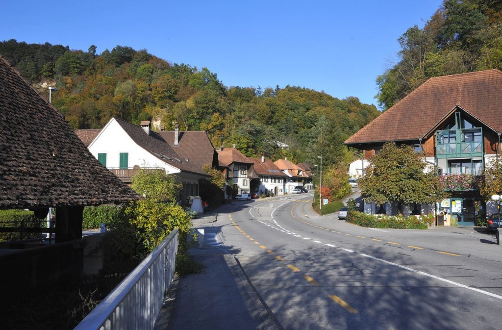 The village of Gümmenen. Credit: Eigenes Werk under CC BY-SA 3.0